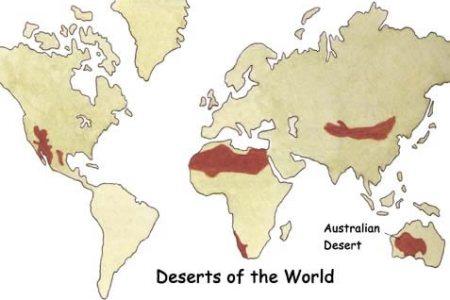 map of australia desert