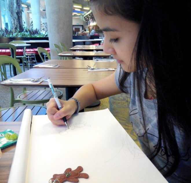 Cherry at Garden by the Bay - The Design Sketchbook