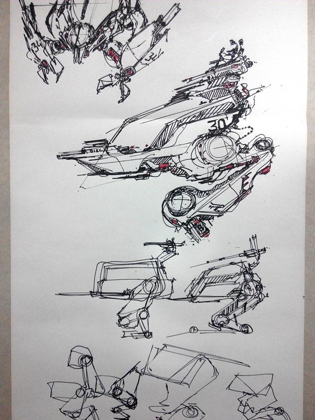 sketching challenge concept art the design sketchbook b