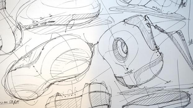 Draw product design - Random shapes - The Design Sketchbook c