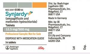 Synjardy 标签 - Synjardy 为类型的 2 糖尿病