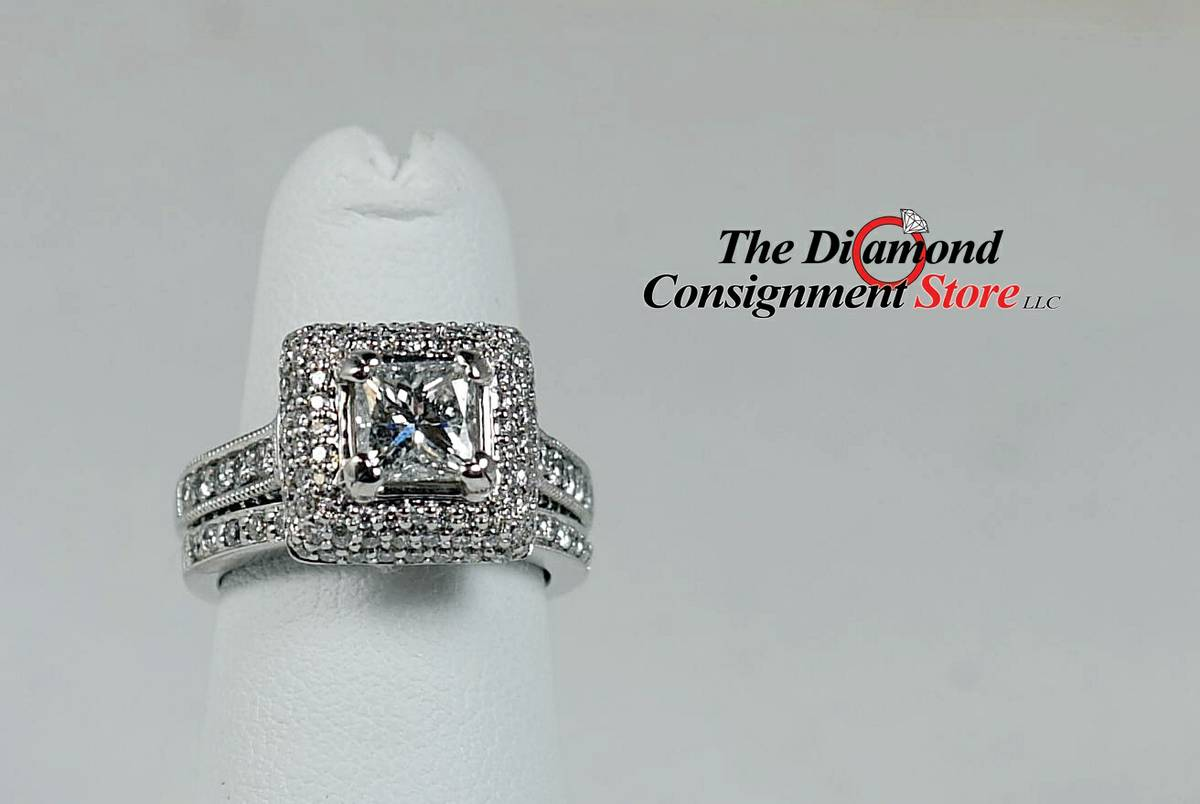 beautiful halo diamond wedding set wedding rings dollars Beautiful Halo Diamond Wedding Set