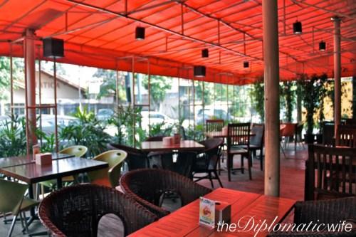 Outdoor area of Warung Pasta Kemang