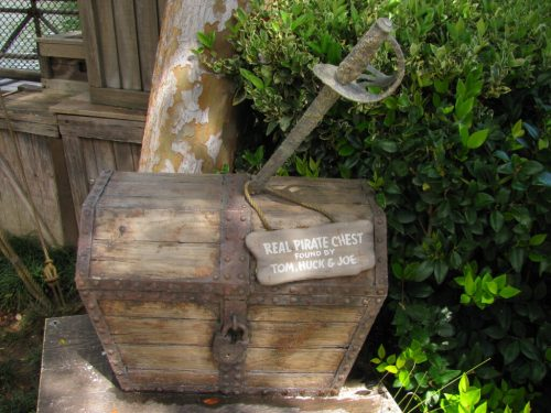 Treasure Chest near rafts to Tom Sawyer's Island in Disneyland