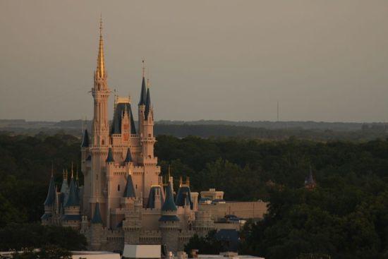 Sunrise Cinderella Castle - Wordless wednesday