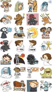 Star Wars Force Awakens Stickers Facebook