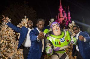 Boyz II Men, Buzz Lightyear, Cinderella Castle, Disney Parks Christmas Celebration