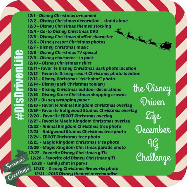 December Disney Driven Life IG Challenge