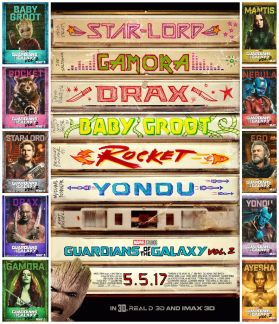 GotG V2 Character Posters