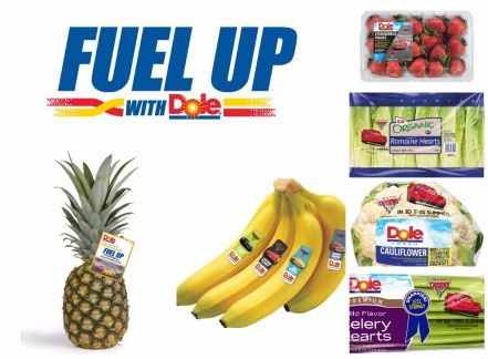 Fuel Up with Dole cars 3 fruit & veggies