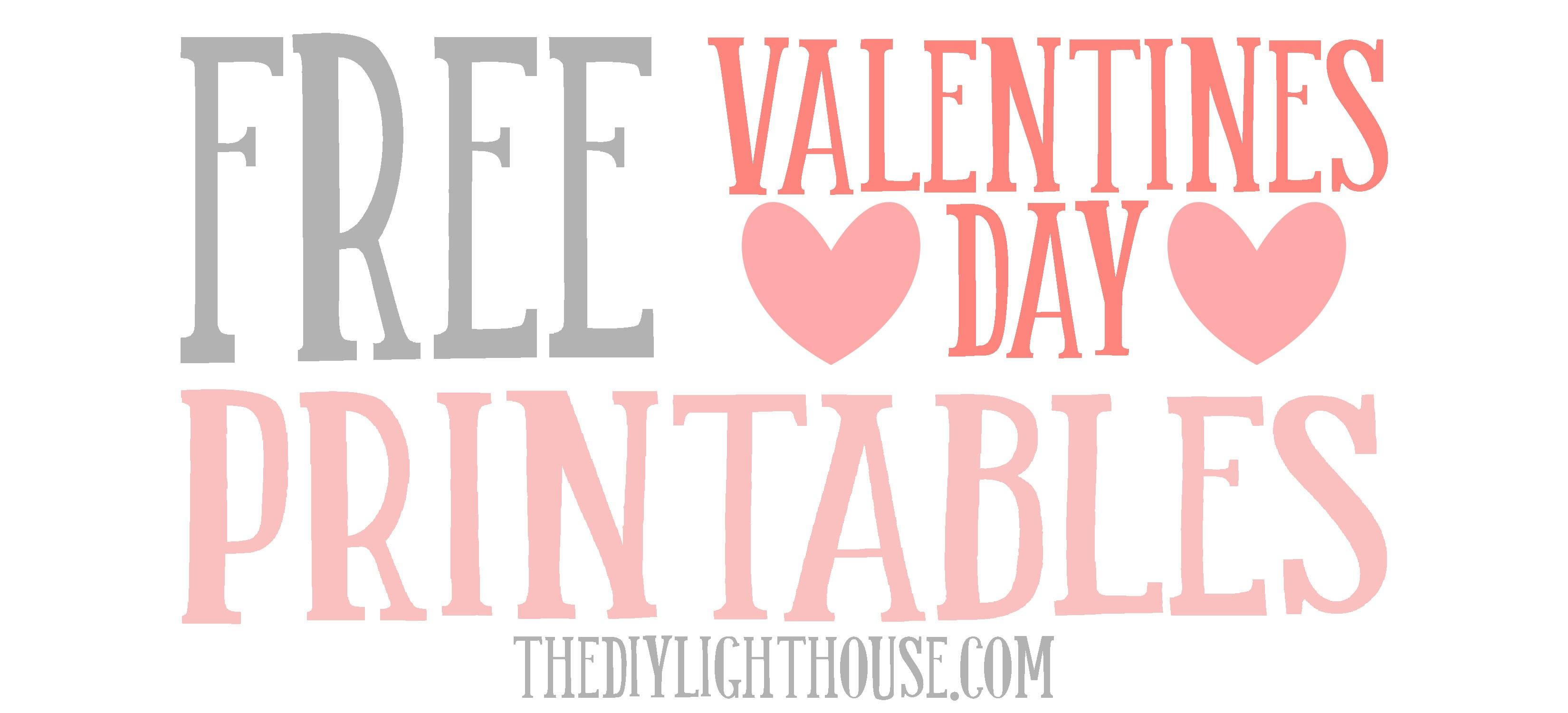 Fullsize Of Free Valentine Printables