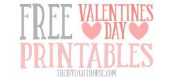 Small Of Free Valentine Printables