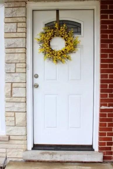 front door before paint
