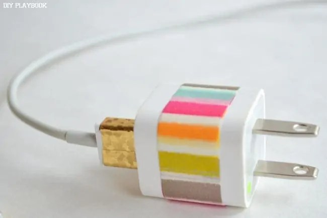 Striped-Phone-Charger
