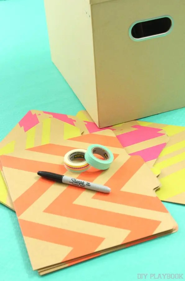 file folder and wash tape