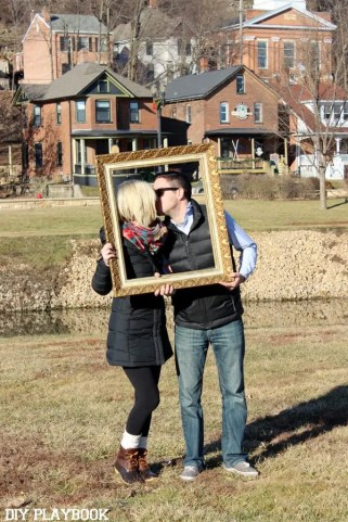 Matt Bridget first anniversary frame galena travel