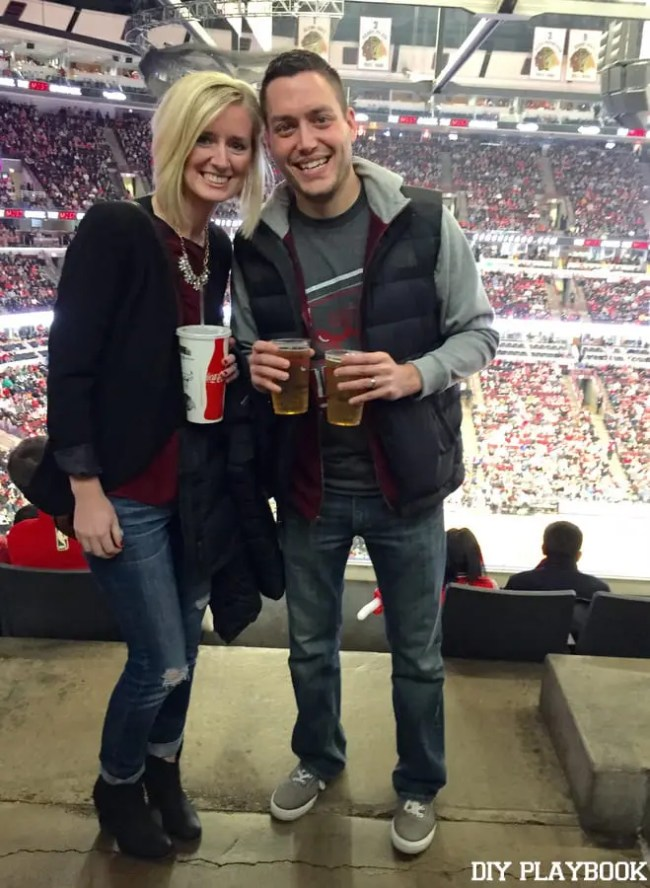 Matt-Bridget-Bulls-Game
