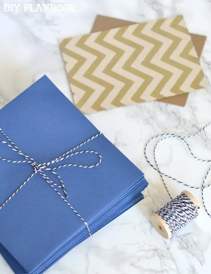 Stack-of-envelopes-birthday-gift