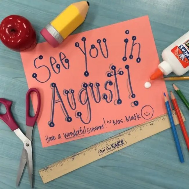august school's out
