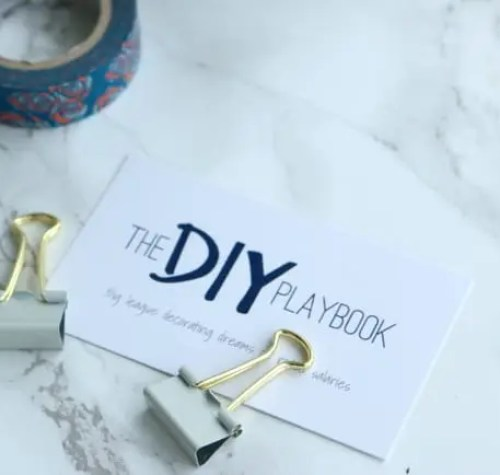 blog diy playbook business card