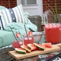 patio watermelon drinks