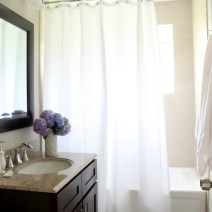 bathroom after shower curtain