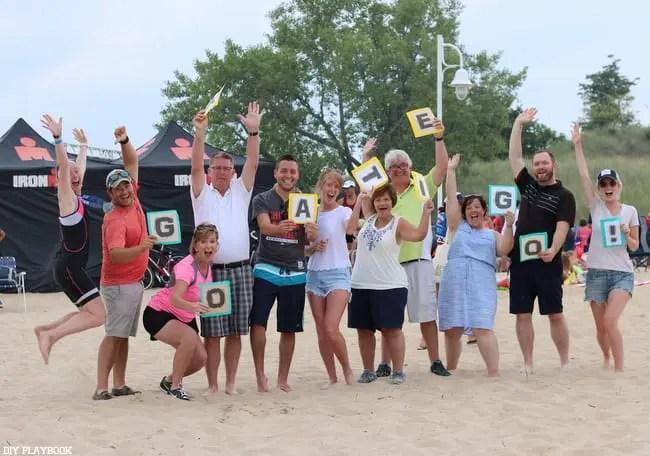 iron man group beach St. Joe's Michigan