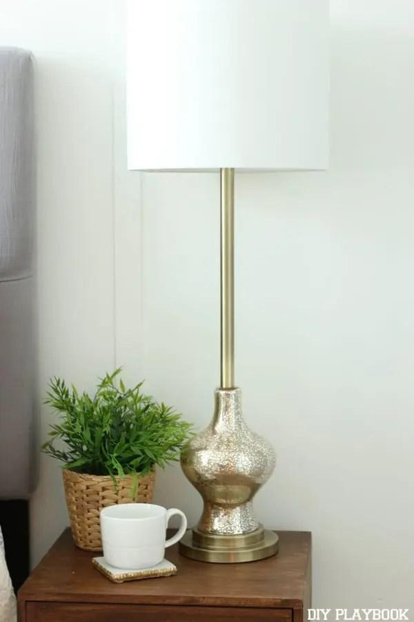 Lamp Coffee Nightstand Maggie