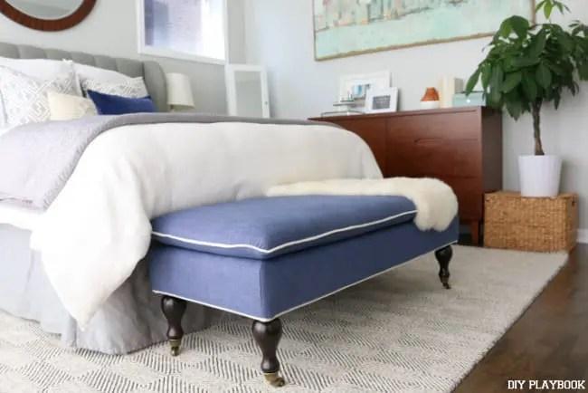 08-navy-upholstered-bench-lulu and georgia-master-bedroom