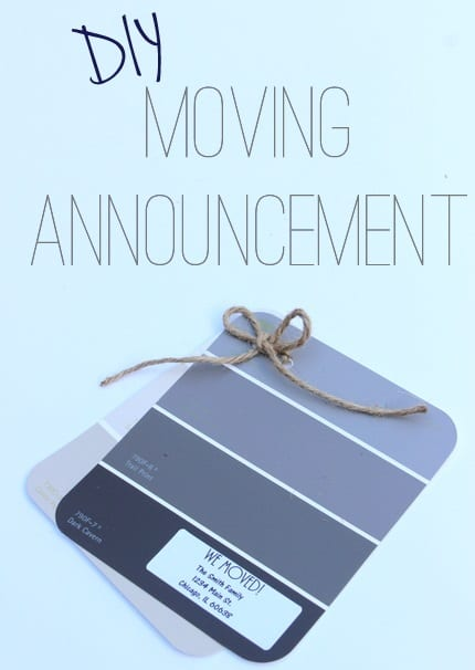 new home announcement paint swatch