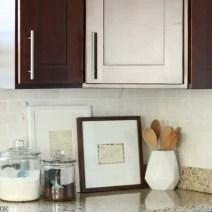 framed recipes kitchen