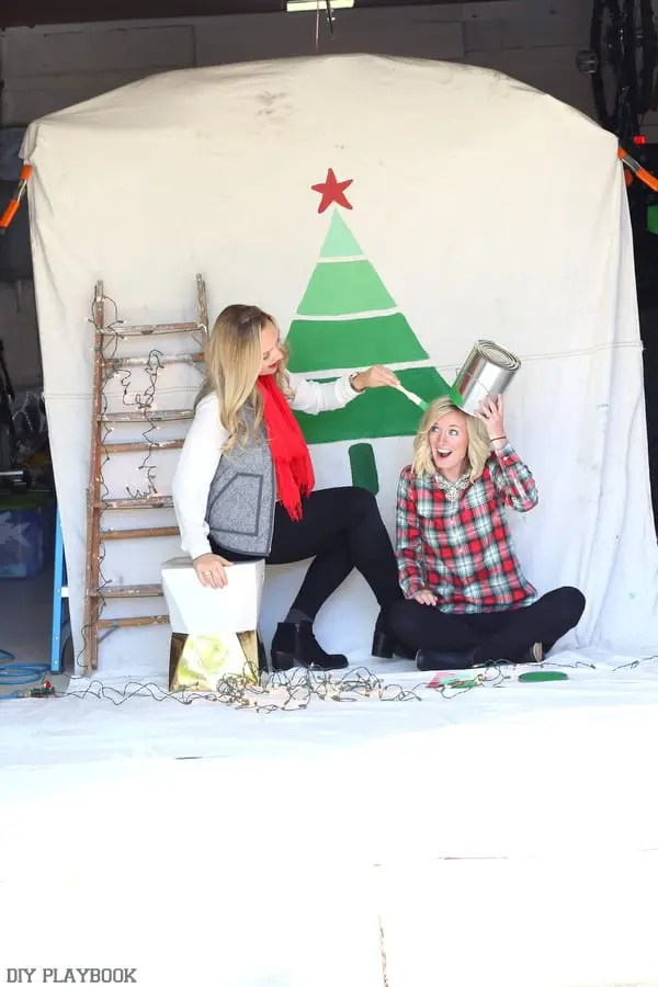 Christmas card behind the scenes