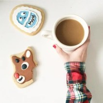 insta Christmas Cookies Coffee
