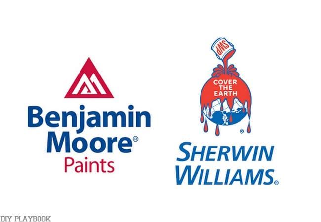 Paint Guide Benjamin Moore Sherwin WIlliams
