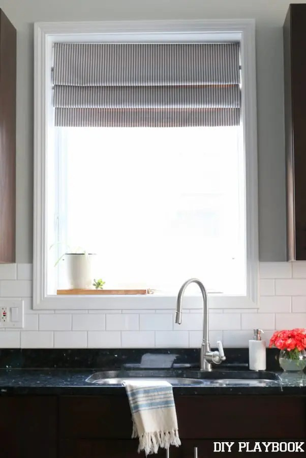 DIY Faux Roman Shade for the Kitchen DIY Playbook