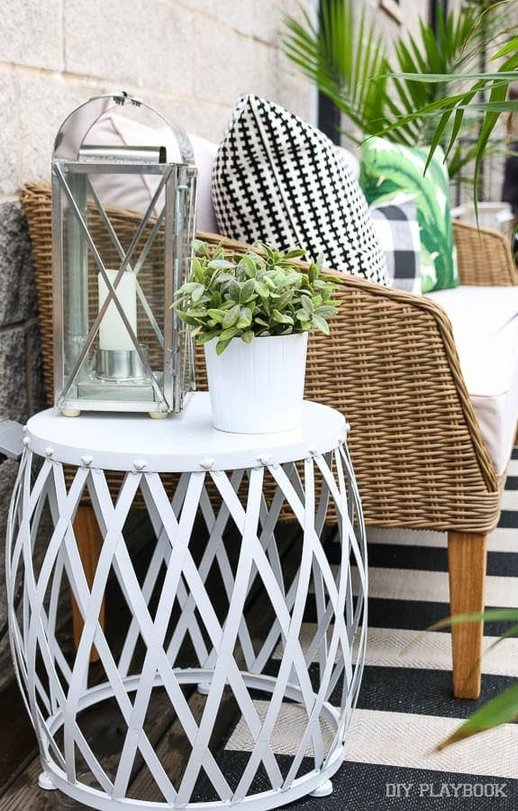 white-garden-stool