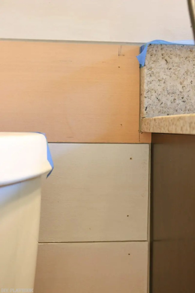 DIY Bathroom Shiplap Tutorial from start to finish