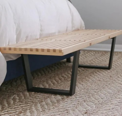 mid-century-modern-bench-black-wood