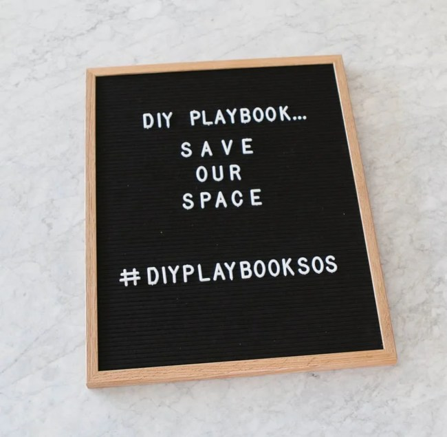 DIY Playbook Save our Space