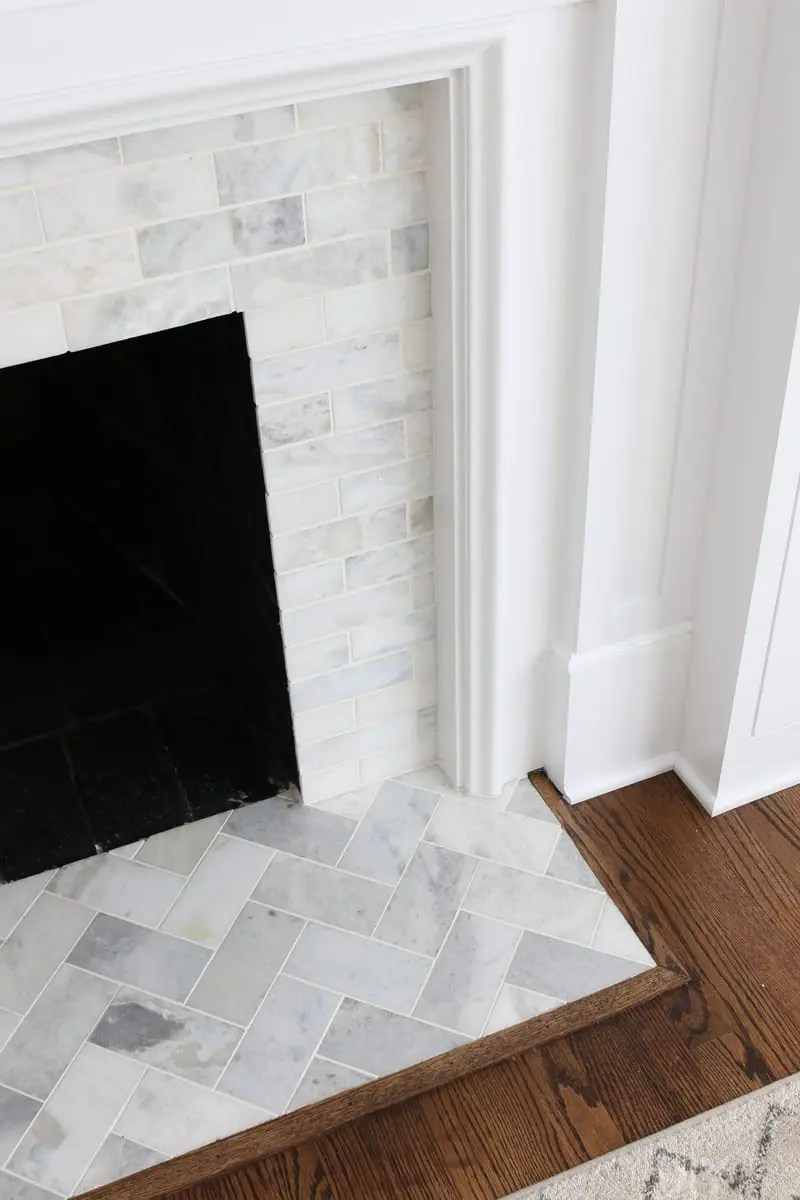 Amusing For We Bought This Tile X Sahara Carraramarble A Marble Tile Fireplace Update Diy Playbook Carrara Marble Tile Herringbone Carrara Marble Tile Lowes houzz-03 Carrara Marble Tile