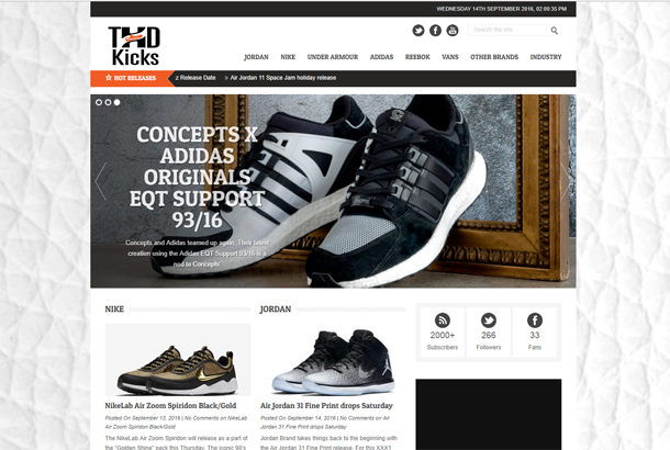 THD Kicks Homepage