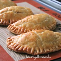 chicken and sweet corn pocket pies with cream cheese pastry dough