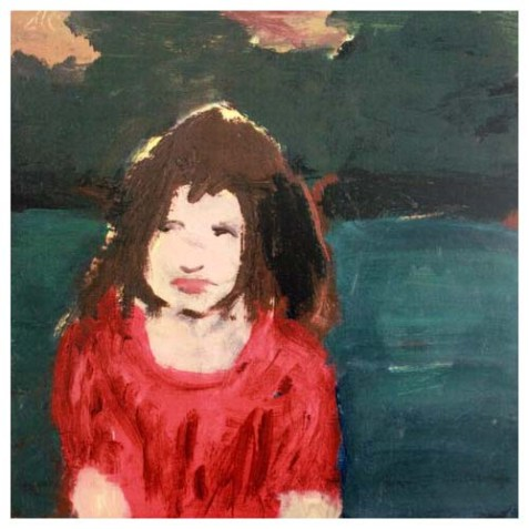 """Child at Sunset, Henry Coupe, oil on linen, 10"""" x 10"""""""