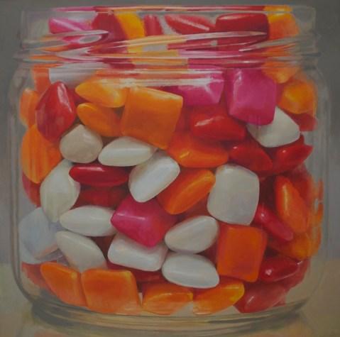 "Candy Jar #9, oil on canvas, 52"" x 52"""