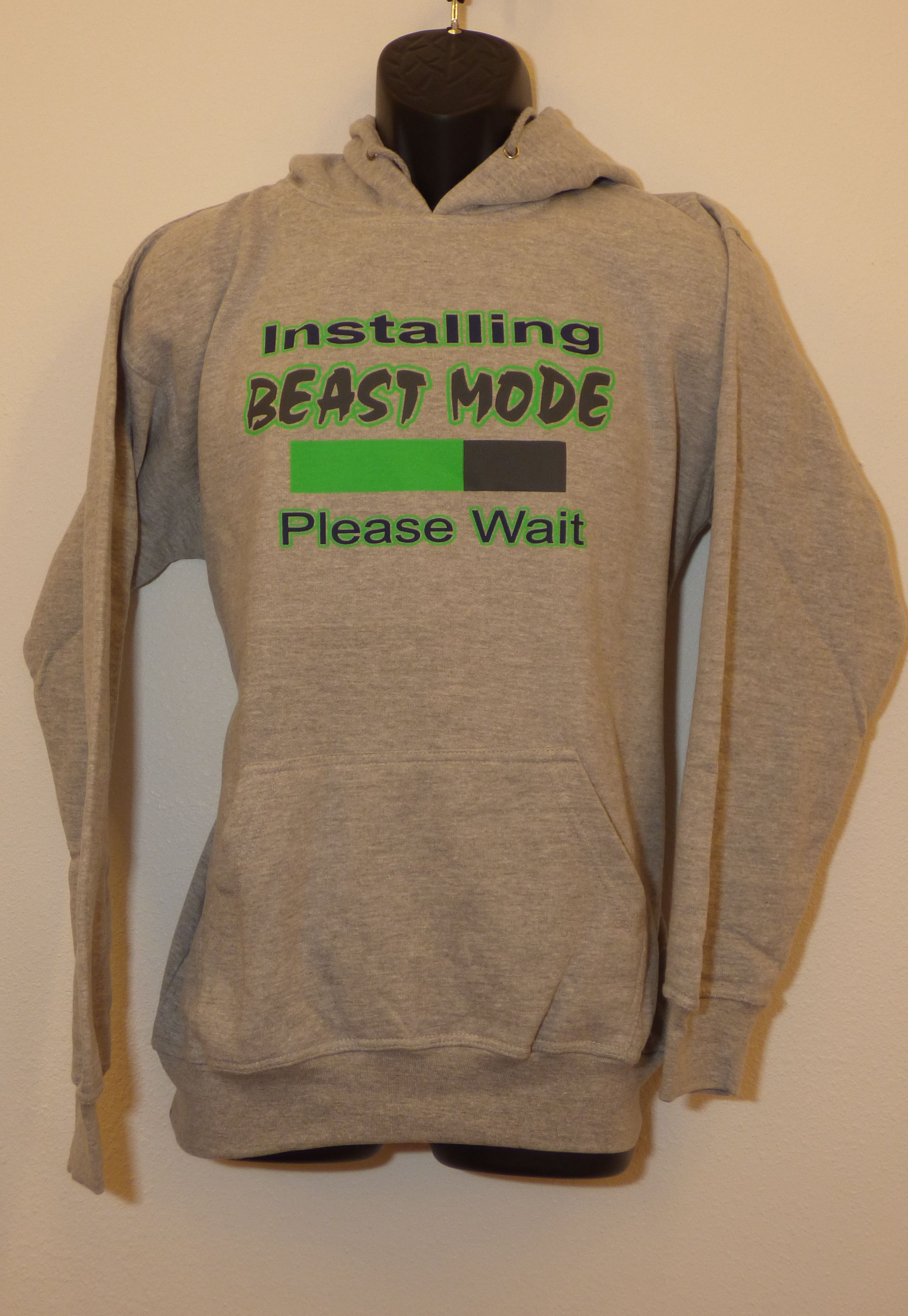 'Installing Beast Mode Please Wait' hoodie