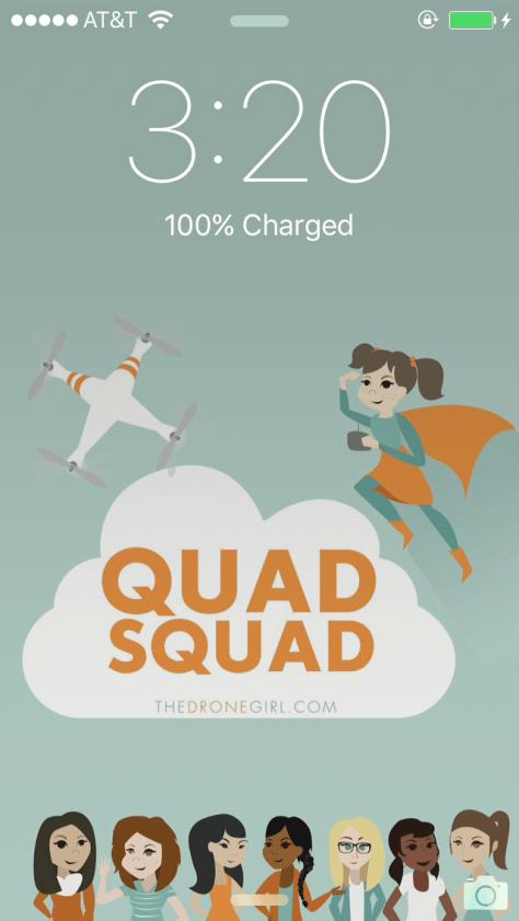quad squad drone girl