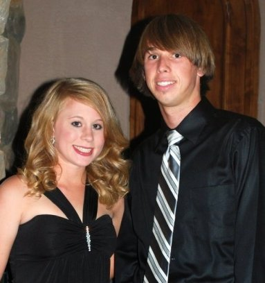 Our first picture together. Homecoming 2009. Back to Jordan's long hair days!