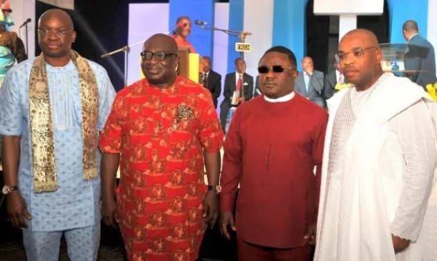 Ikpeazu with governors of Ekiti, Cross River and Akwa Ibom
