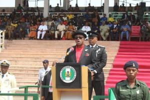 Obiano at the Armed Forces Remembrance Day in Awka