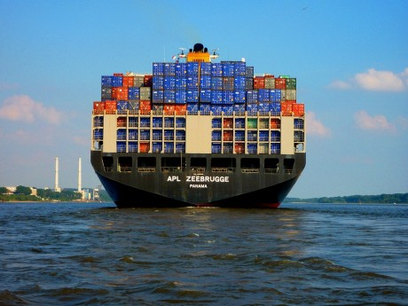 """""""Nothing Is Moving,"""" Baltic Dry Crashes As Insiders Warn """"Commerce Has Come To A Halt"""" Container-Ship-Public-Domain-460x345"""